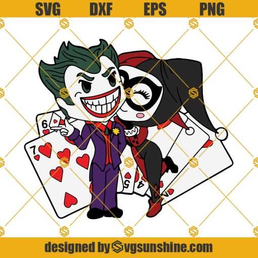Joker and Harley Quinn SVG, Joker Cricut SVG, Joker Clipart Joker Layered SVG Files for Cricut Silhouette