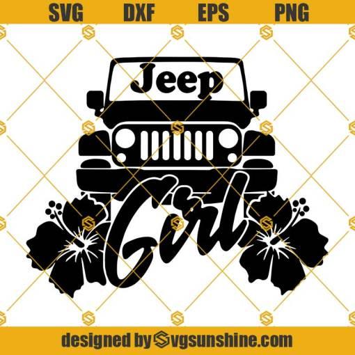 Jeep Girl SVG, Jeep Flower SVG, Jeep SVG Cricut Silhouette