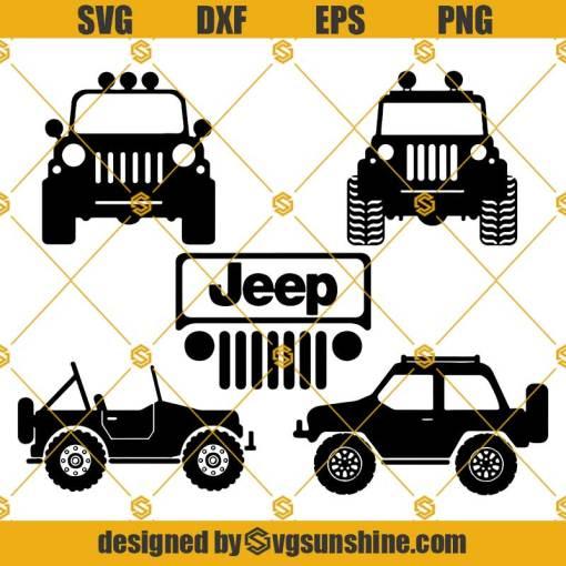 Jeep SVG Bundle, Mountain JKU SVG, Off road Jeep SVG, Jeep SVG Cricut Silhouette, Jeep Logo SVG