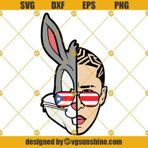 BAD BUNNY SVG, Puerto Rico Sunglasses SVG, El Conejo Malo SVG Layered Cut files
