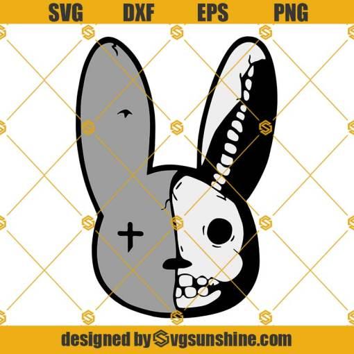 Bad Bunny Face SVG, Skull Bunny SVG, El Conejo Malo SVG, Yo Perreo Sola SVG