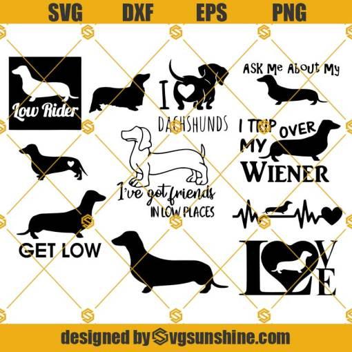 Dachshund Dog SVG Bundle Dachshund Dog SVG Love Dog SVG Dachshund SVG