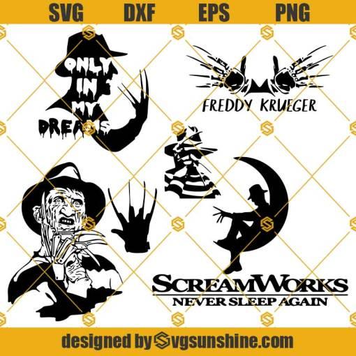 Freddy Krueger SVG Bundle, Freddy Krueger Halloween SVG, Freddy Krueger Hand SVG