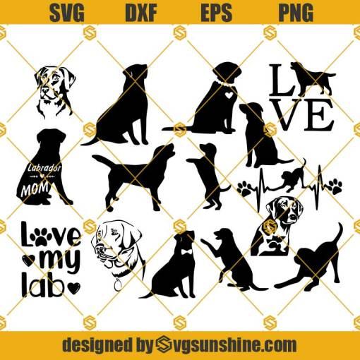 Labrador Retriever Dog SVG, Labrador Retriever SVG Bundle Dog SVG Cut File For Cricut & Silhouette