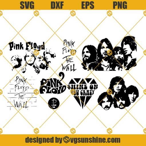 Pink Floyd SVG Bundle Pink Floyd SVG PNG DXF EPS Cut Files Vector Clipart Cricut Silhouette