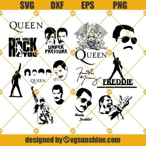 Queen Freddie Mercury SVG Bundle, Queen Freddie Mercury SVG