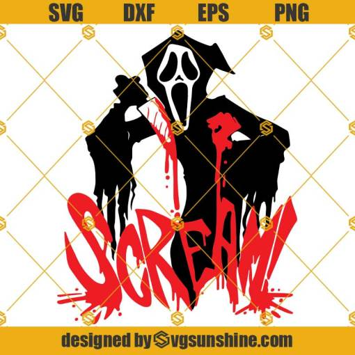 Scream SVG, Scream Layered SVG, Ghost Face SVG, Halloween SVG