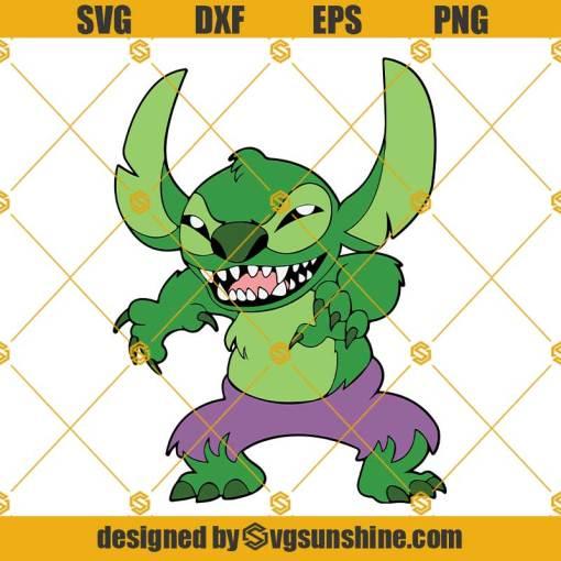 Stitch Hulk SVG, Stitch SVG, Hulk SVG, Lilo and Stitch SVG, Stitch Superhero SVG