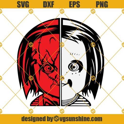 Chucky SVG Chucky Face SVG Angel and Demon SVG Cricut Silhouette