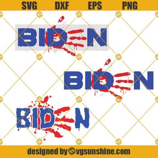Biden Bloody Hand SVG, Biden Handprint SVG, Biden Blood On His Hands SVG, Anti Biden SVG, Bloody Hand Print SVG