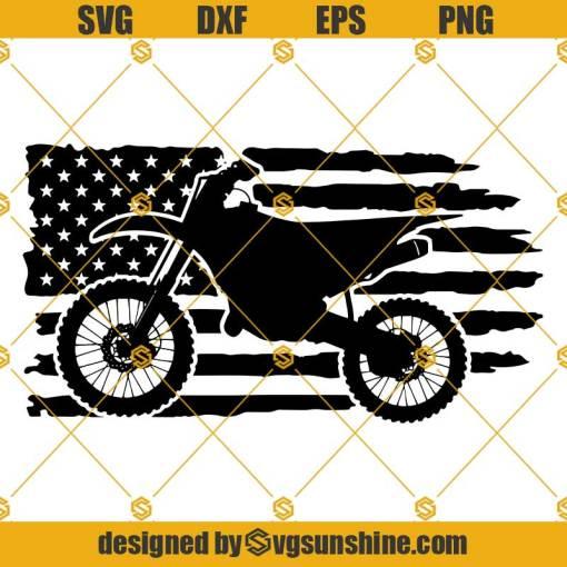 Motocross SVG, Motorcycle Usa Flag SVG, Dirt Bike SVG, Biker SVG Motor SVG