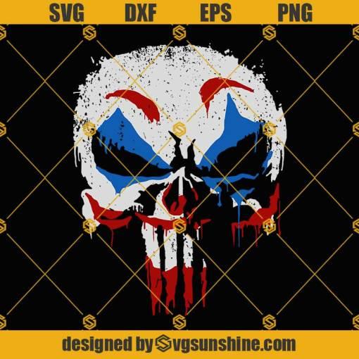 Joker Punisher Skull SVG, Joker Skull SVG, Joker SVG, Punisher Skull SVG
