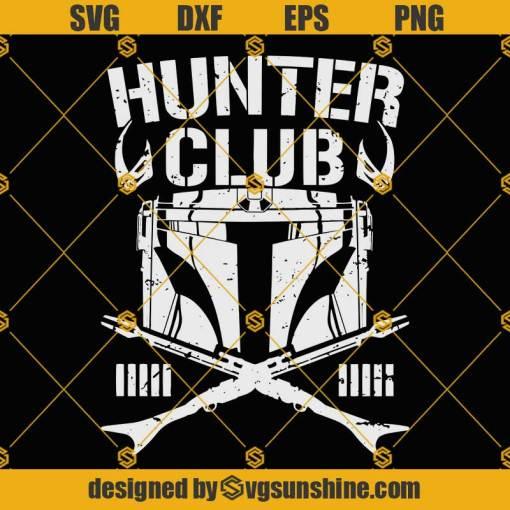 Mandalorian Helmet SVG, Hunter Club SVG, Hunting Club SVG