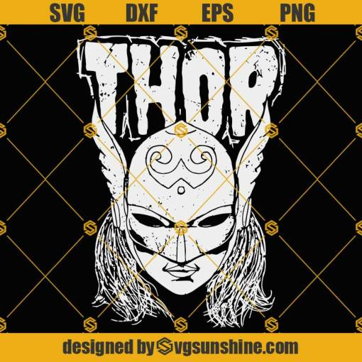 Thor SVG, Avengers Thor SVG, Marvel Comics Thor SVG, Thor SVG PNG DXF EPS Cut Files For Cricut Silhouette Cameo