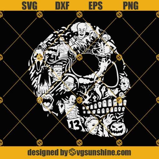 Skull American Horror SVG, Horror Skull Halloween SVG, Skull SVG, Horror Movie Killers SVG