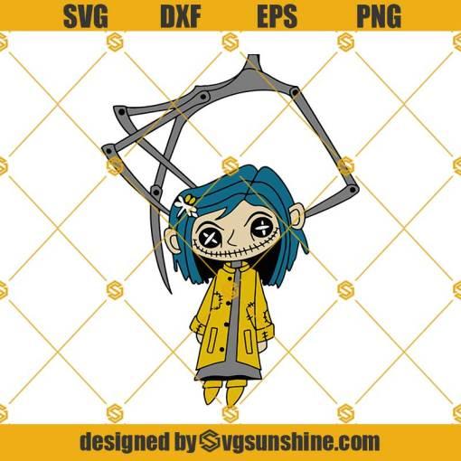 Coraline SVG, Layered SVG Coraline Design SVG, Halloween Cut Files
