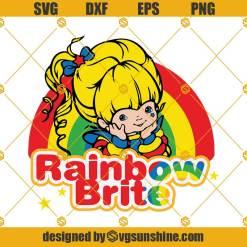 Rainbow Brite SVG, 80s SVG, Rainbow Brite Layered Cut file Cricut Silhouette