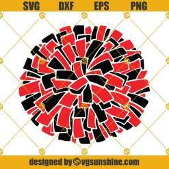 Pom Pom SVG, Sports Girl SVG, Cheer SVG, Sports SVG, Cut Files, Sports Girl Cut Files