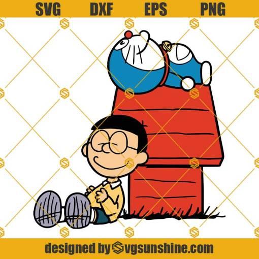 Doraemon SVG PNG DXF EPS Cut Files Vector Clipart Cricut Silhouette