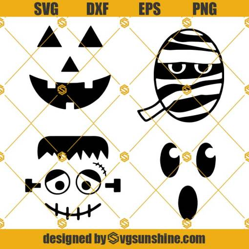 Halloween Faces SVG