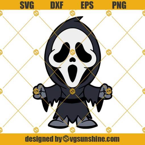 Layered SVG Chibi Scream For Cricut, Horror SVG
