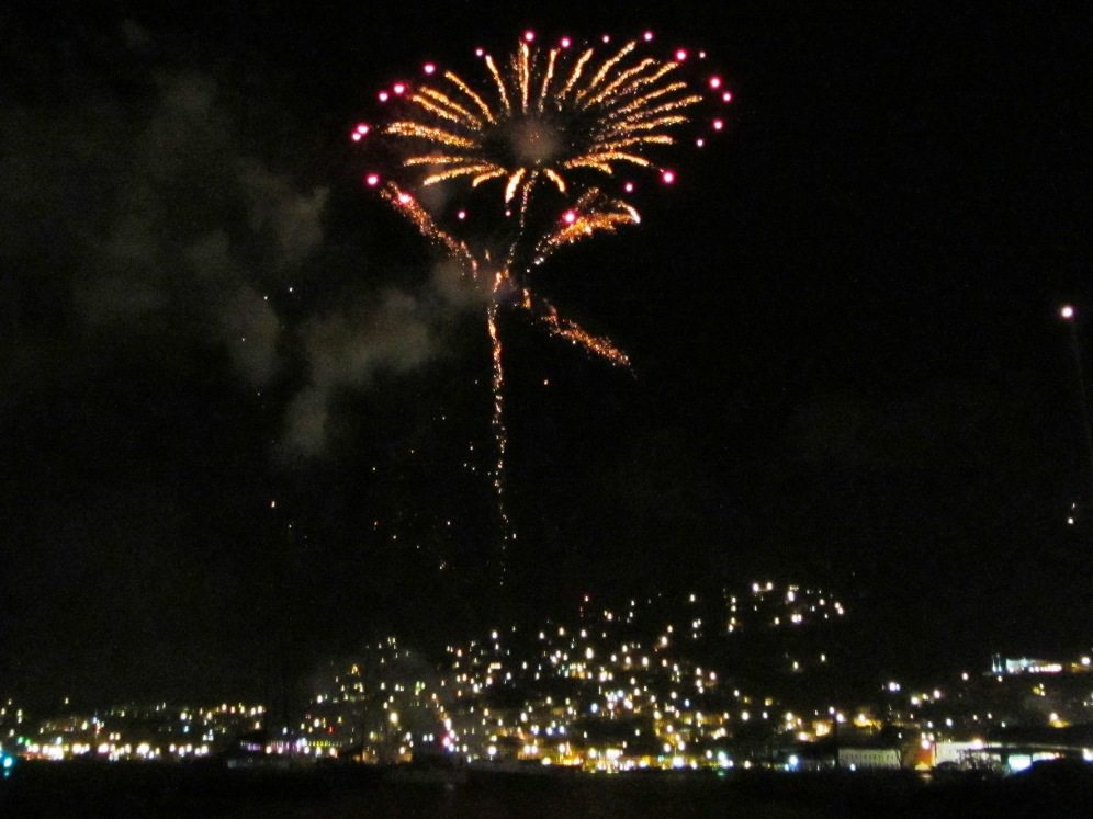 St Thomas carnival fireworks of a flower