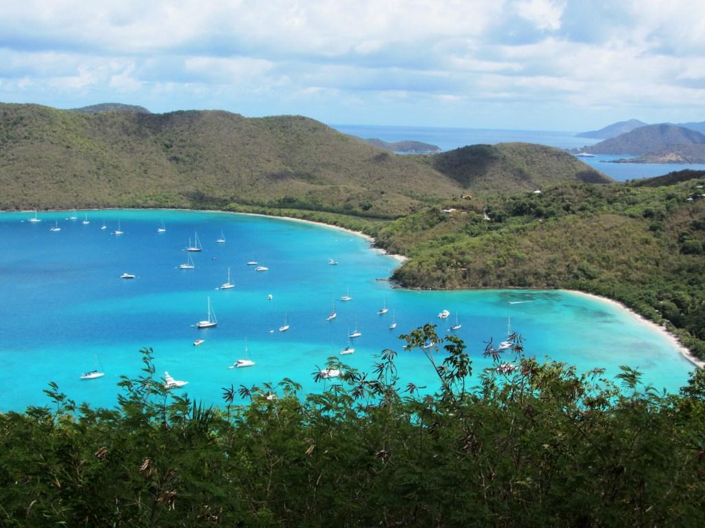 View of Francis and Maho Bay