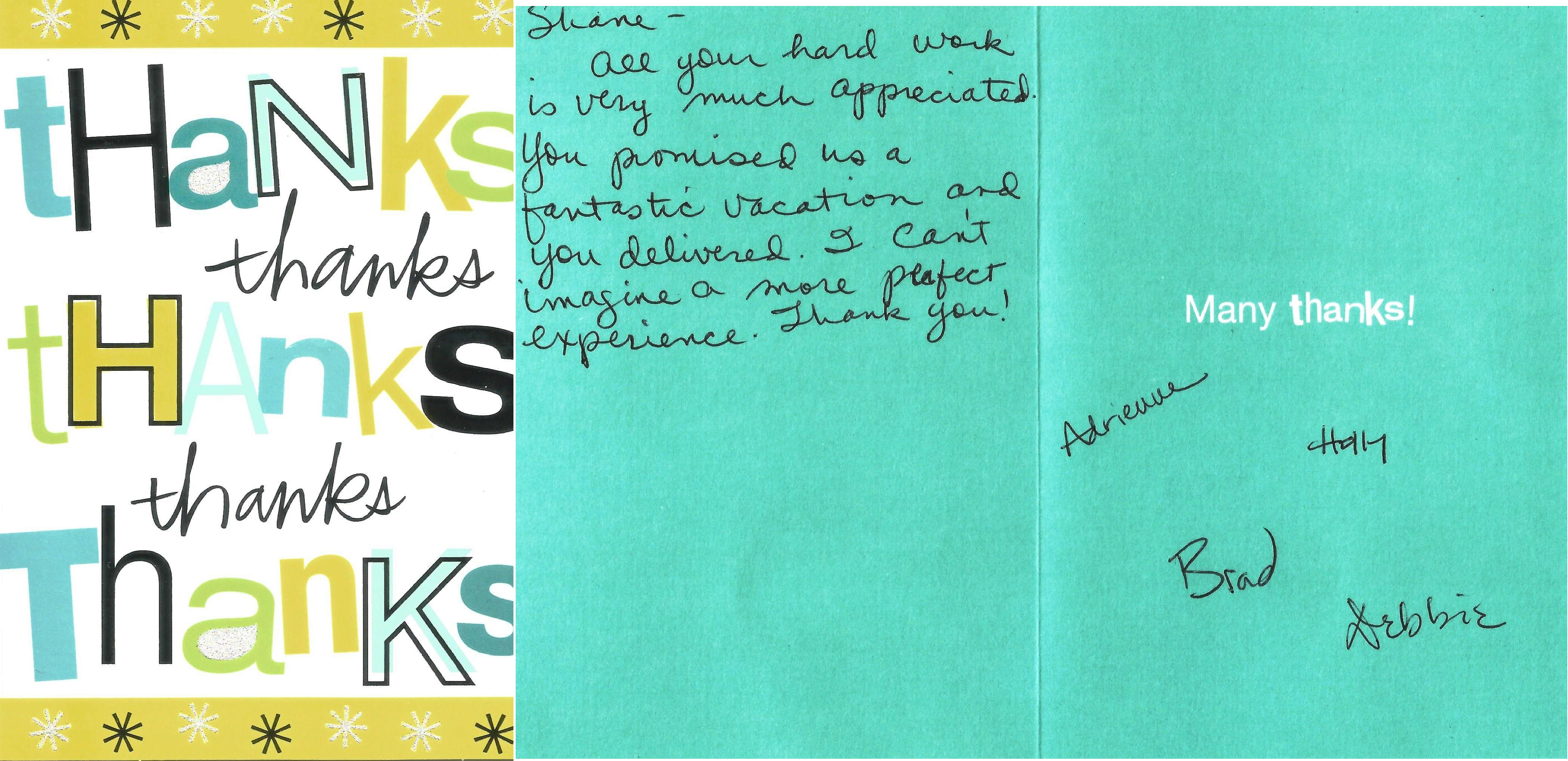 Card from a guest