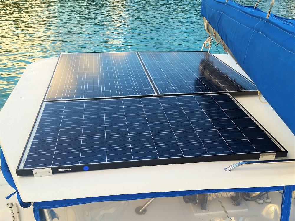 New solar panels on hardtop