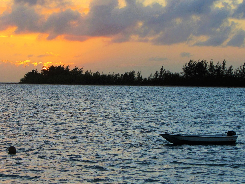 Sunset With Dinghy