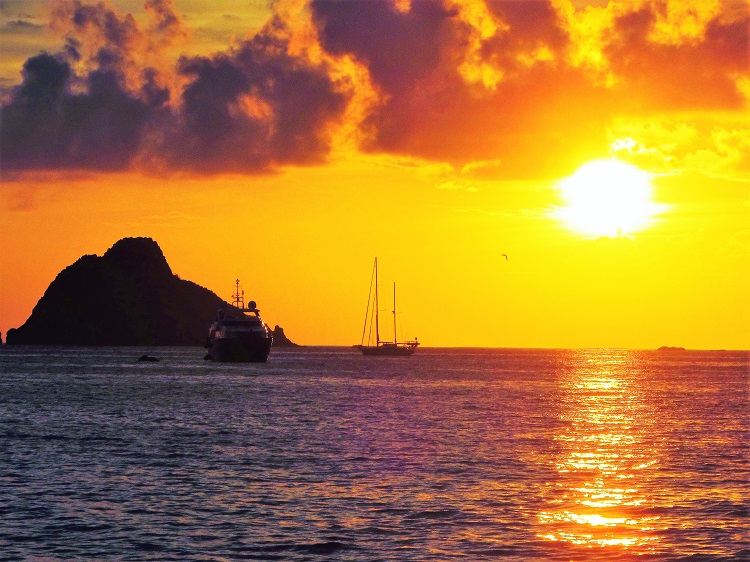 Sunset in St Barts