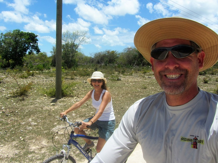 Us biking in Barbuda