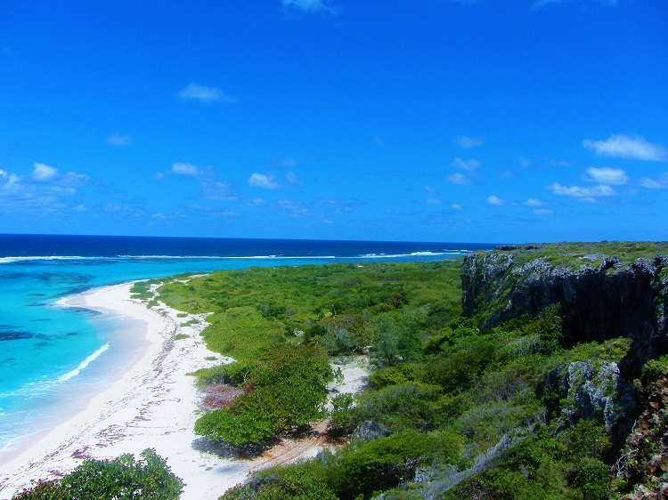 The view of Barbuda from a cliff