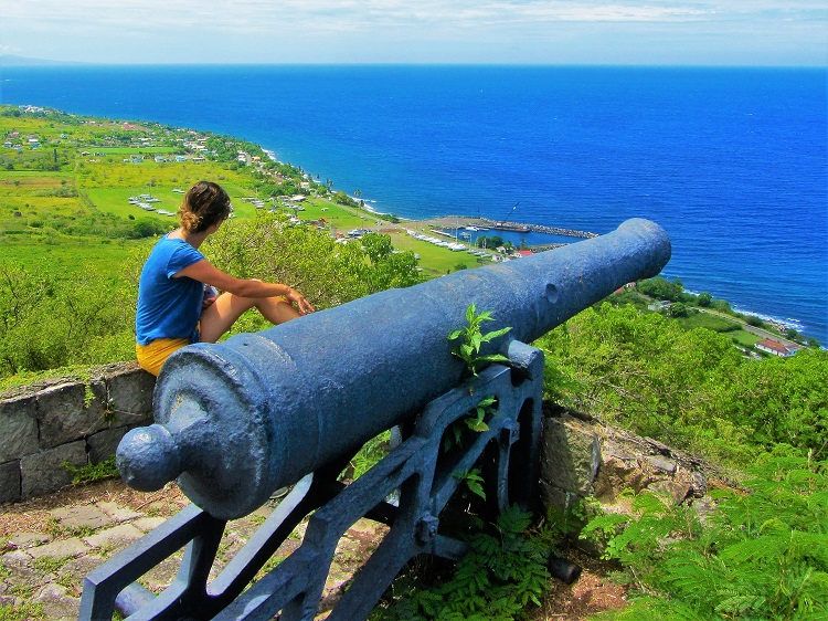 Brimstone overlook on St Kitts
