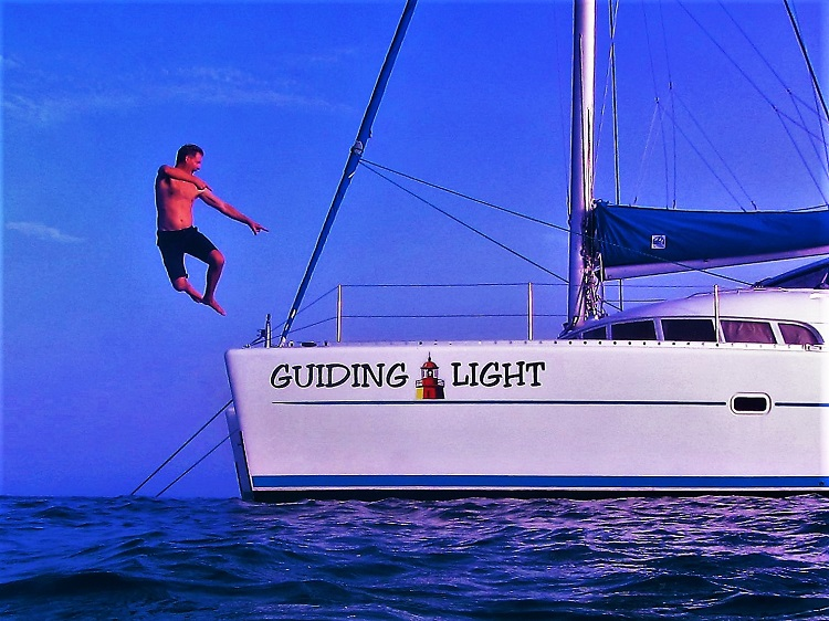 Me jumping off the Guiding Light