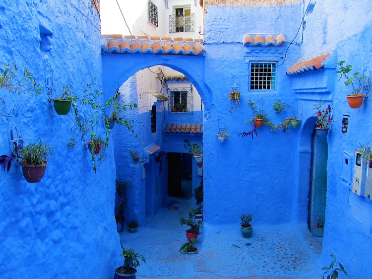 Typical street in Chefchaouen