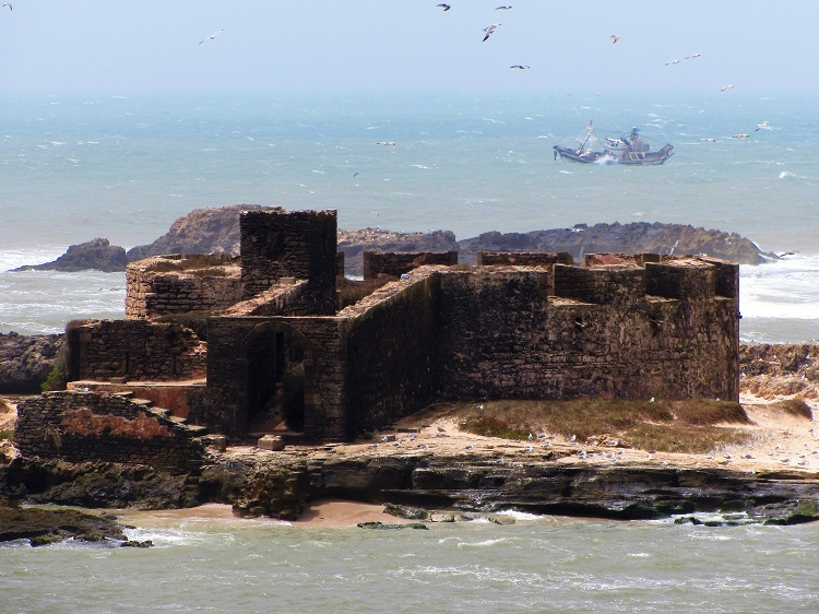 Morocco - Essaouira - Offshore Fort & Boat