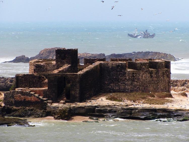 Morocco - Essaouira - Offshore Fort & Boat