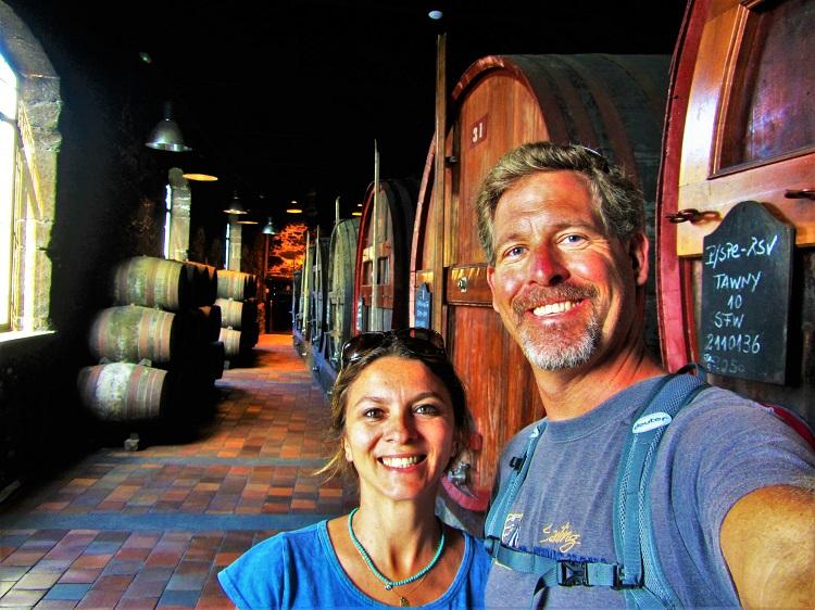 Us in a Porto wine cellar