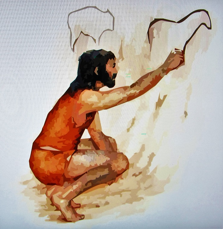 Caveman drawing in the Coa Valley