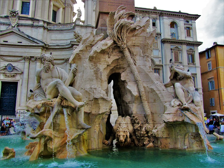 Exploring Rome - Piazza Novano 2 - Fountain of 4 Rivers 1