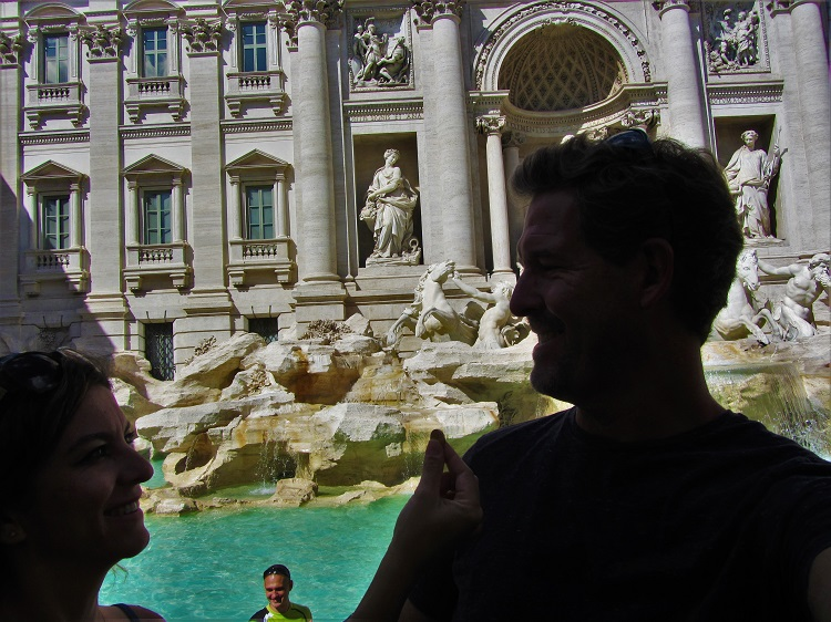 Old Rome - Trevi Fountain 2
