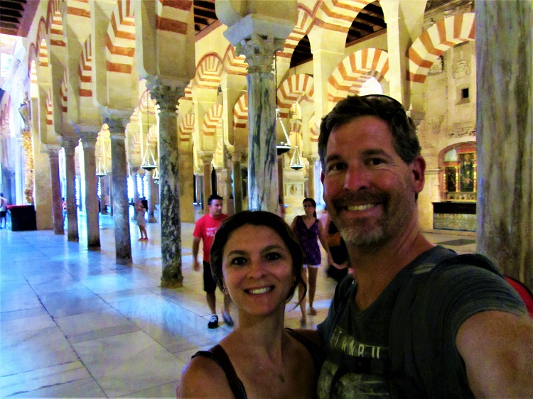 Us in the Cordoba Mezquita