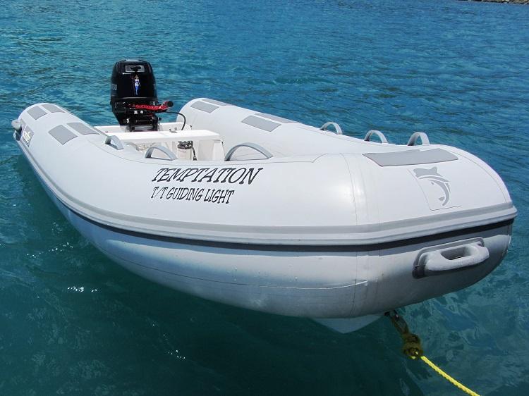 My dinghy, Temptation