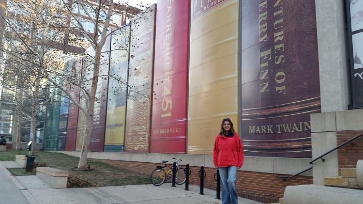 Melek at the KC Library
