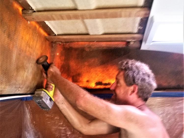 replacing the vinyl ceiling 1