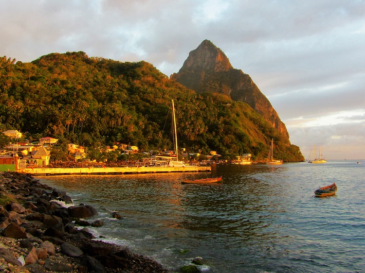 Petit Piton from Soufriere