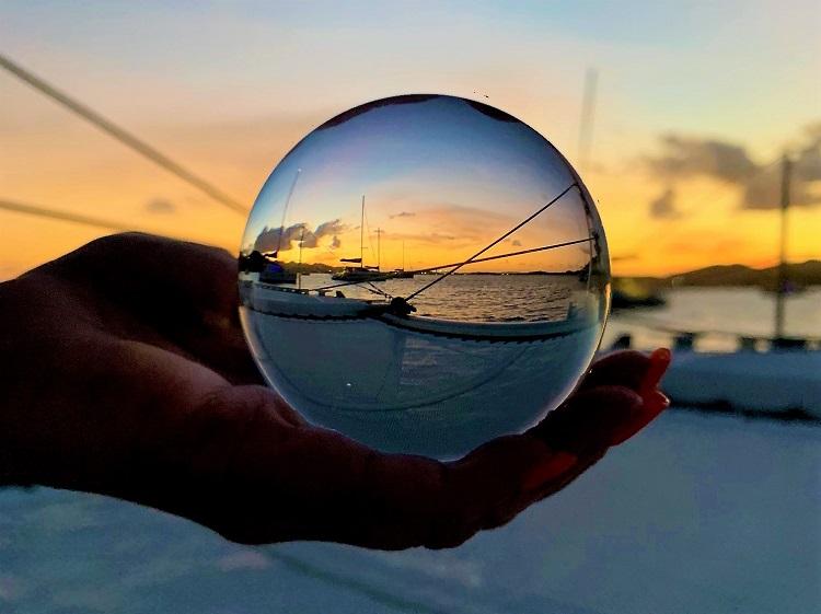 Lensball sunset