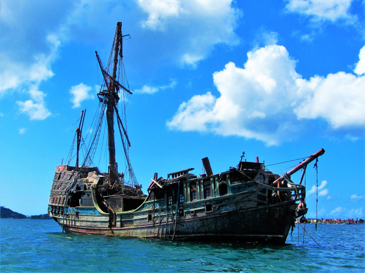 St Martin - Wrecked Pirate Ship
