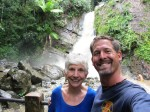 Mom and I at a water fall in El Yunque rain forest